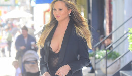 Hot Mama Chrissy Teigen Puts on Busty Display while out with John Legend